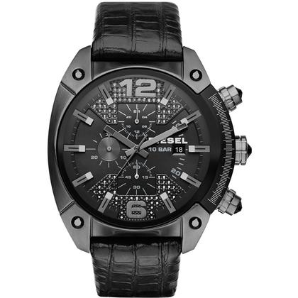 Diesel DZ4372 Watch Strap Black Leather