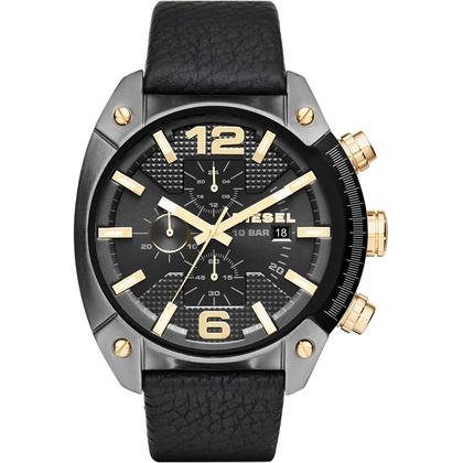 Diesel DZ4375 Watch Strap Black Leather