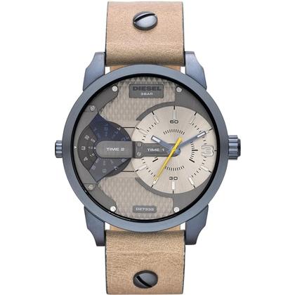 Diesel DZ7338 Watch Strap Beige Leather