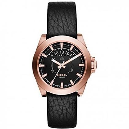Diesel DZ1733 Watch Strap Black Leather