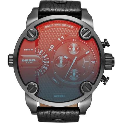 Diesel DZ7334 Watch Strap Black Leather
