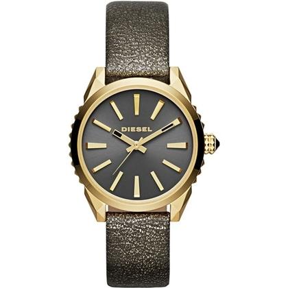 Diesel DZ5476 Watch Strap Gold Leather