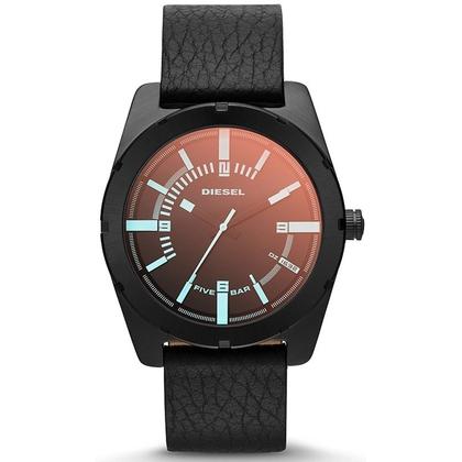 Diesel DZ1632 Watch Strap Black Leather