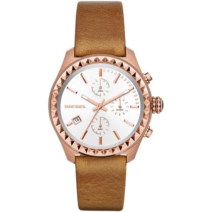 Diesel DZ5488 Watch Strap Brown Leather