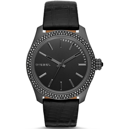 Diesel DZ5436 Watch Strap Black Leather