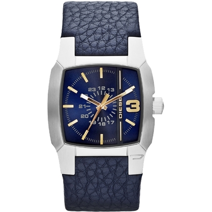 Diesel DZ1636 Watch Strap Blue Leather