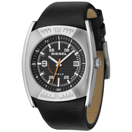 Diesel DZ1156 Watch Strap Black Leather