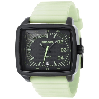 Diesel DZ1335 Watch Strap Light Green Rubber