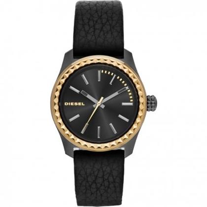 Diesel DZ5408 Watch Strap Black Leather