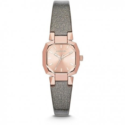 Diesel DZ5398 Watch Strap Grey Leather