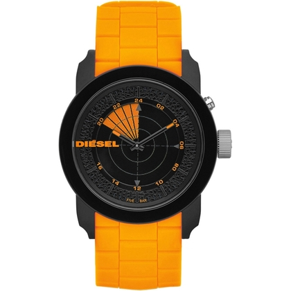 Diesel DZ1608 Watch Strap Orange Rubber