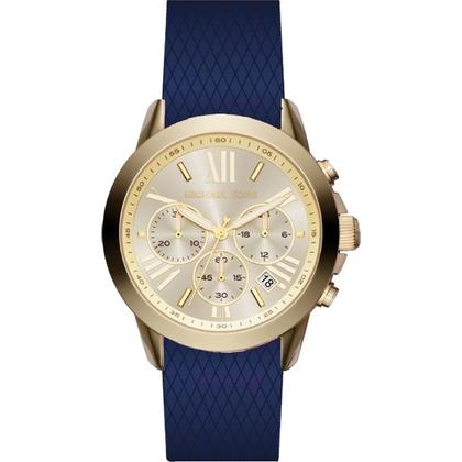 Michael Kors MK2556 Watch Strap Blue Rubber