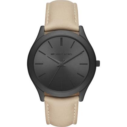 Michael Kors MK8510 Watch Strap Beige Leather
