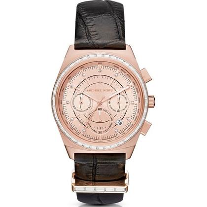 Michael Kors MK2616 Watch Strap Black Leather