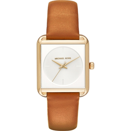 Michael Kors MK2584 Watch Strap Brown Leather