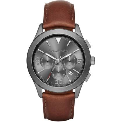 Michael Kors MK8471 Watch Strap Brown Leather