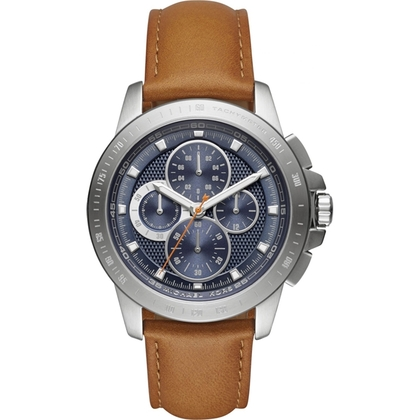 Michael Kors MK8518 Watch Strap Brown Leather