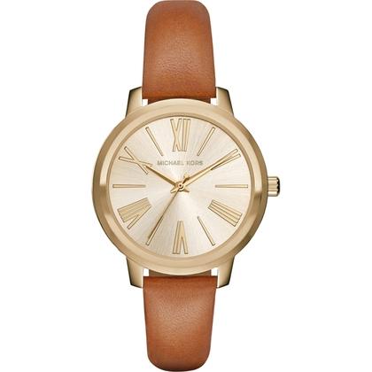 Michael Kors MK2521 Watch Strap Brown Leather