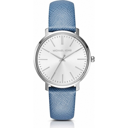 Michael Kors MK2495 Watch Strap Blue Leather