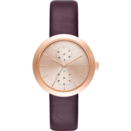 Michael Kors MK2575 Watch Strap Purple Leather