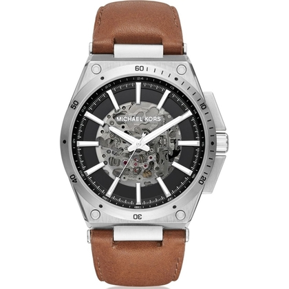 Michael Kors MK9030  Watch Strap Brown Leather