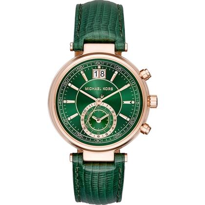 Michael Kors MK2581 Watch Strap Green Leather