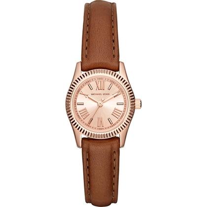 Michael Kors MK2540 Watch Strap Brown Leather