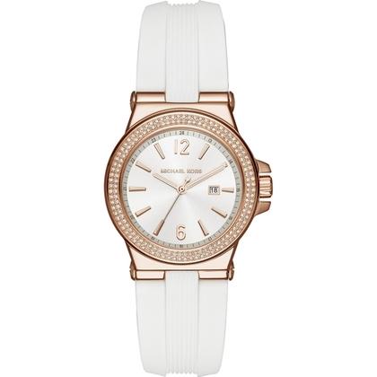 Michael Kors MK2491 Watch Strap White Rubber