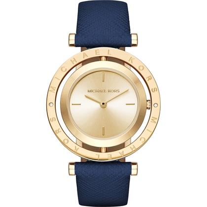 Michael Kors MK2526 Watch Strap Blue Leather