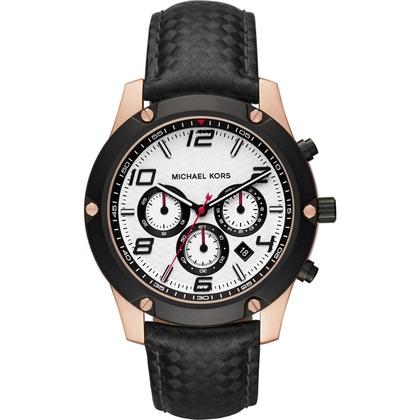 Michael Kors MK8489 Watch Strap Black Leather