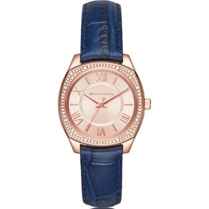 Michael Kors MK2593 Watch Strap Blue Leather