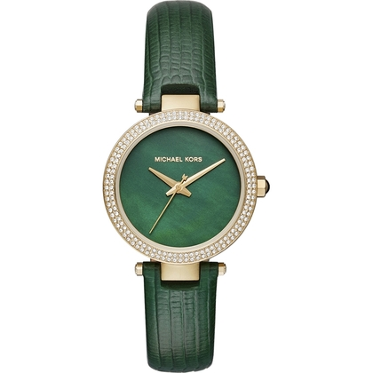 Michael Kors MK2592 Watch Strap Green Leather