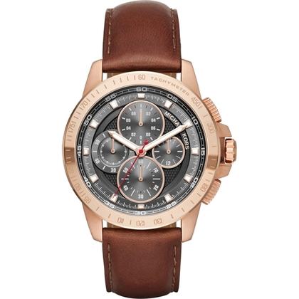 Michael Kors MK8519 Watch Strap Brown Leather