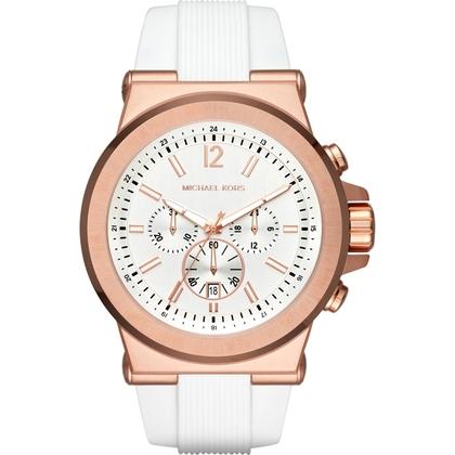 Michael Kors MK8492 Watch Strap White Rubber