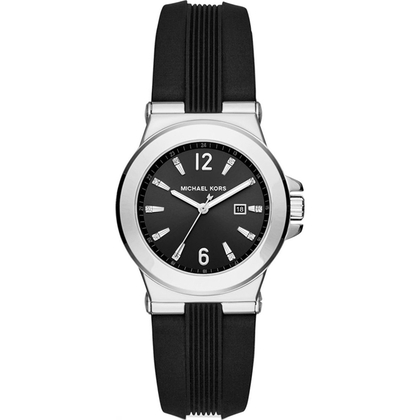 Michael Kors MK2499 Watch Strap Black Rubber