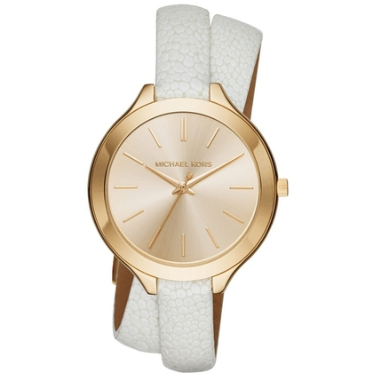 Michael Kors MK2477 Watch Strap White Leather