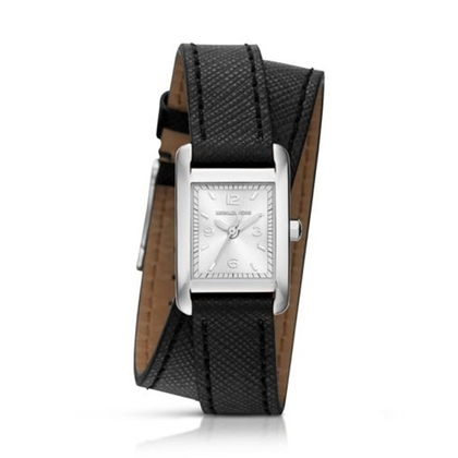 Michael Kors MK2497 Watch Strap Black Leather