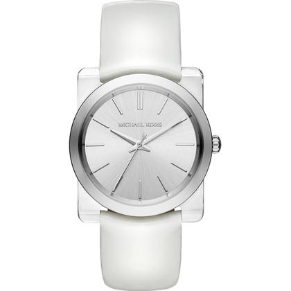 Michael Kors MK2482 Watch Strap White Leather