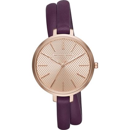 Michael Kors MK2576 Watch Strap Purple Leather