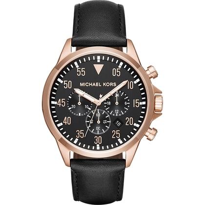 Michael Kors MK8535 Watch Strap Black Leather