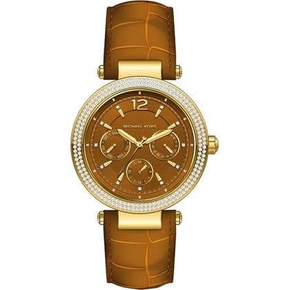 Michael Kors MK2546 Watch Strap Brown Leather