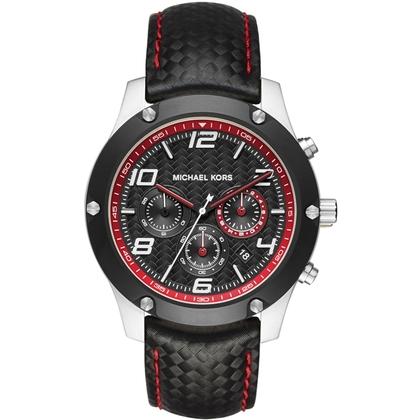 Michael Kors MK8475 Watch Strap Black Leather