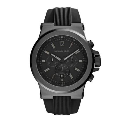 Michael Kors MK8152 Watch Strap Black Rubber