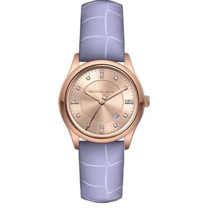 Michael Kors MK2550 Watch Strap Purple Leather