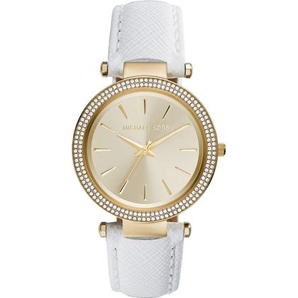 Michael Kors MK2391 Watch Strap White Leather