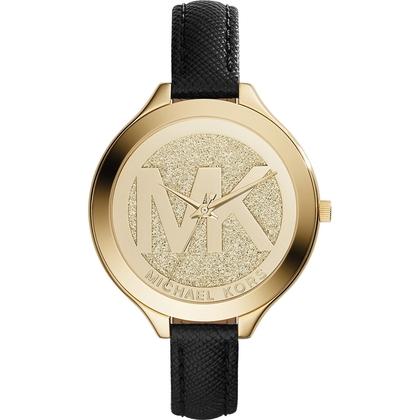 Michael Kors MK2392 Watch Strap Black Leather
