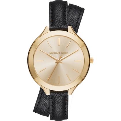 Michael Kors MK2468 Watch Strap Black Leather