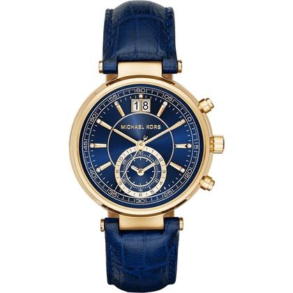 Michael Kors MK2425 Watch Strap Blue Leather