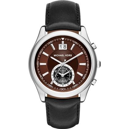 Michael Kors MK8415 Watch Strap Black Leather