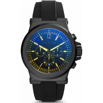 Michael Kors MK8406 Watch Strap Black Rubber
